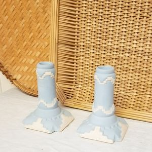 Handpainted Ceramic Southwestern Candlesticks